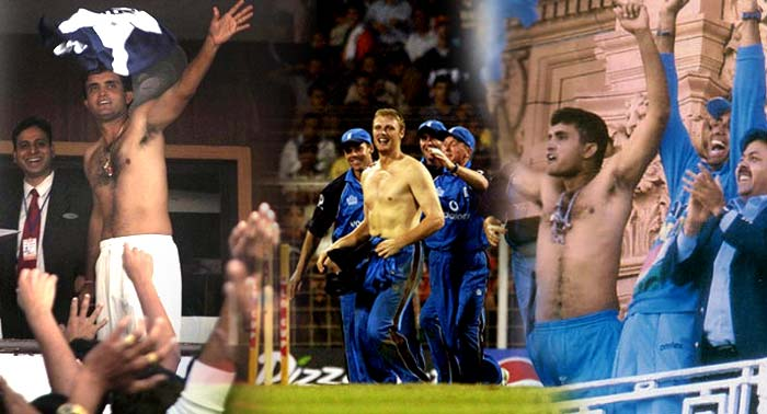 "<b>Sourav Ganguly:</b> After Zaheer Khan struck the winning runs for India in the NatWest Trophy in 2002, all eyes turned to an animated Indian skipper standing in the Lord's balcony. Ganguly took off his shirt and waved it while mouthing some ""good"" words for Andrew Flintoff, who had done a similar act at the Wankhede Stadium, and his teammates."