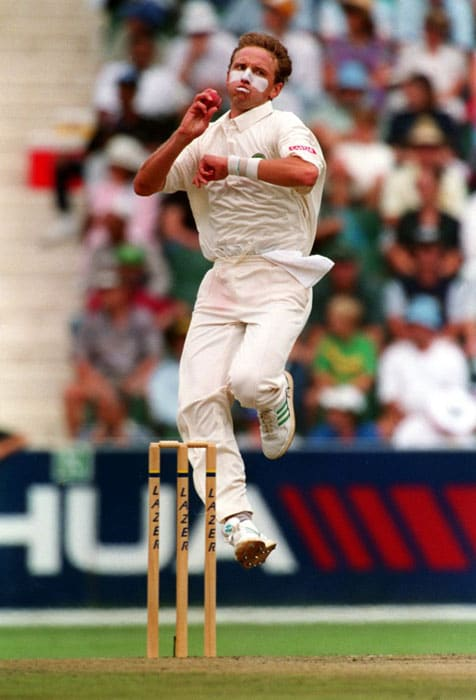 <b>Allan Donald</b>, the former South Africa fast bowler and now a much sought-after bowling coach was called White Lightning due to his sheer pace. (Text Courtesy: <a href='http://www.mid-day.com' target='_blank'>Mid-Day.com</a>)