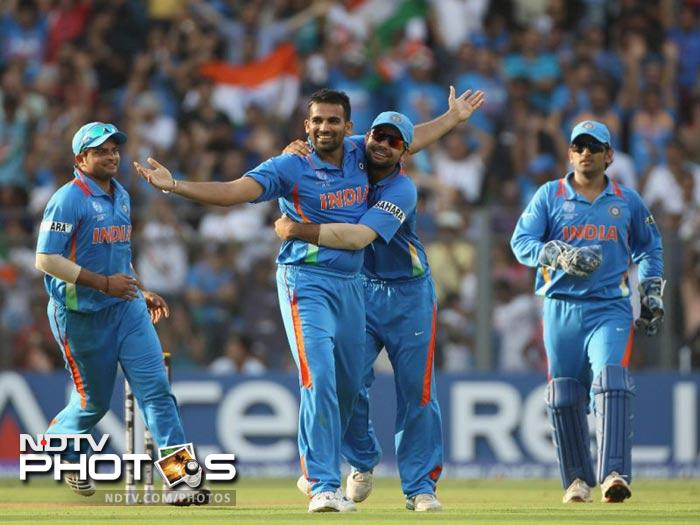 Indian seamer Zaheer Khan considers a yellow handkerchief as his lucky charm. He carries it in every crucial match.