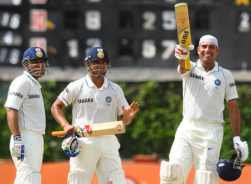 India levelled the Test series in Lanka thanks to a special ton by Laxman. He defied back spasms, avoided a runner for the first half of his knock, but was forced to call out for one later (Virender Sehwag). He was forced to bring his wrists into play because of limited movement.<i>(Text Courtesy: Mid-Day.com)</i>