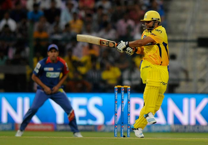 Suresh Raina looked in a sublime touch as he took the pressure off Dwayne Smith with some lusty blows. The duo added 54 runs for the second wicket.