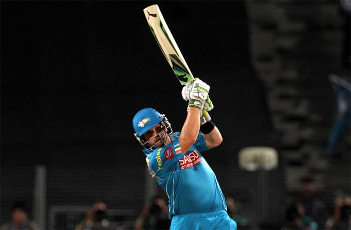 Skipper Aaron Finch looked in a rush as he began Pune's chase on an aggressive note. His innings though was cut short on 15 off 9 by Mohit Sharma. (BCCI image)