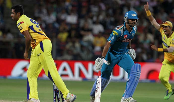 Chennai Super Kings produced an all-round performance against Pune Warriors to ease their way to a 37-run win against the hosts. A look at the match. (BCCI image)