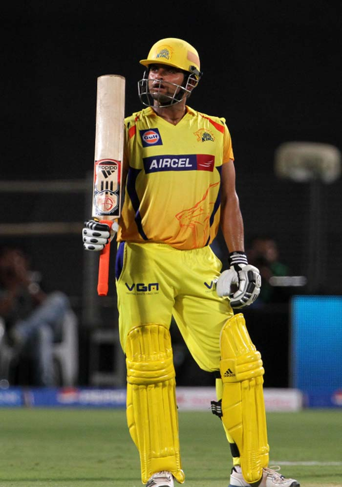 Raina too completed his fifty and remained unbeaten on 63 off 50 as late hitting took the visitors to 164/3. (BCCI image)
