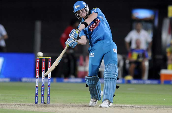 Steve Smith hit 35 off 39 but his was the only innings of some substance. (BCCI image)