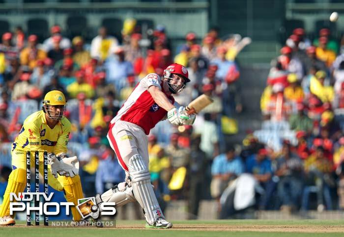 Shaun Marsh (in red) in action against Chennai Super Kings. He scored 32 off 22. (SESHADRI SUKUMAR / AFP)