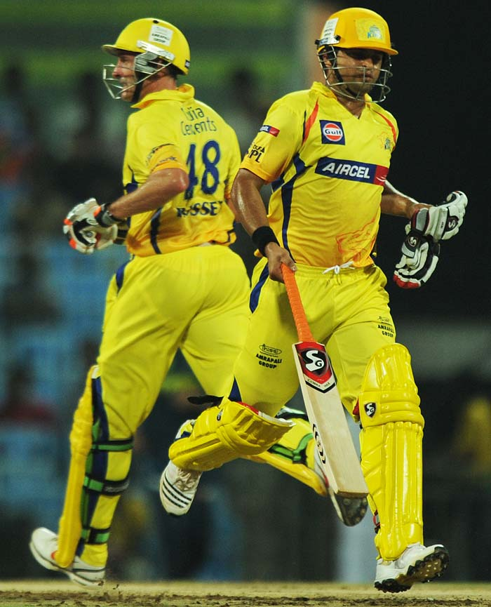 In came Suresh Raina to partner Michael Hussey and Chennai never really lost the plot from there on. The journey to a 137-run partnership began...