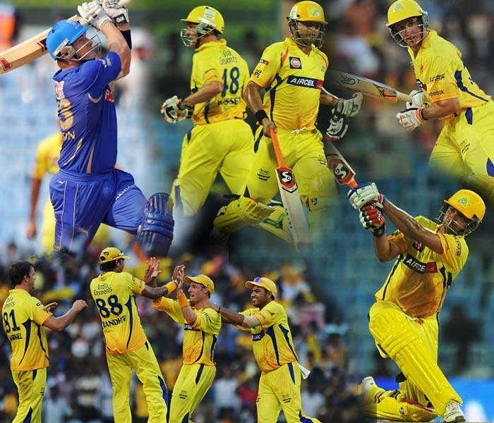 MS Dhoni's team was not going to be a pushover for the Rajasthan Royals who came from a string of good performances at home. A look at the action from Chepauk from Wednesday's play. (AFP Photo)
