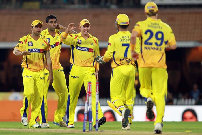 R Ashwin was the pick of the bowlers for Chennai with figures of 1/28 in his 4 overs. Chris Morris could have been the chief destructor but De Villiers ruined his spell with a blistering 20 runs off his fourth over to end with figures of 3/40. (BCCI Image)