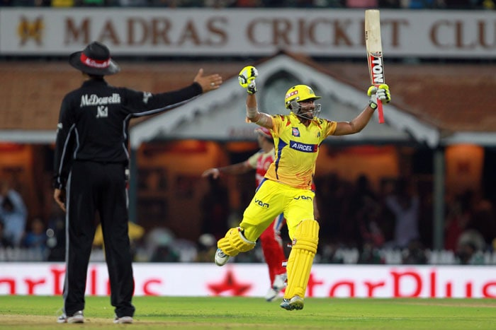 Needing 16 runs to win off the last over, Jadeja hit Rudra Pratap Singh for 11 runs in the first three balls. Morris then reduced the equation to two runs needed off one ball before Jadeja edged an overstepped delivery from RP Singh straight to the throat of Rampaul at third-man. Amidst confusion, drama, ecstasy and disappointment, Chennai romped home by four wickets with a ball to spare. (BCCI Image)
