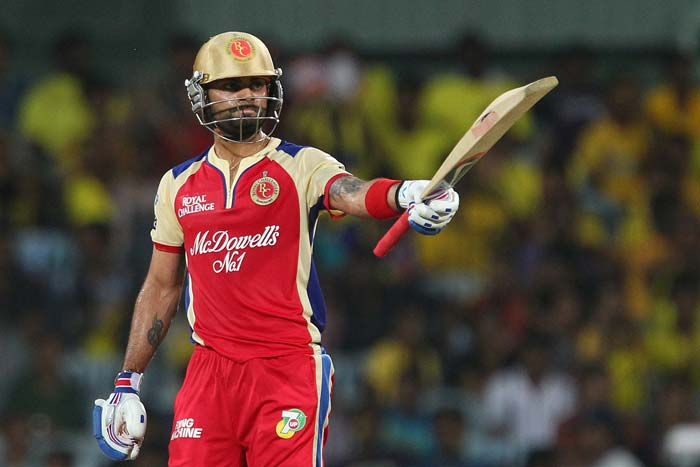 Kohli was then given another life as Bravo, who had a chance to get his 'revenge', dropped him off his own bowling. RCB skipper then completed his half-century and immediately decided to open up, hitting Morris for a huge six. Morris then exacted revenge in the same over to first remove Virat for 58 off 47 balls and then immediately got Dan Christian (in for Henriques) for 2. (BCCI Image)
