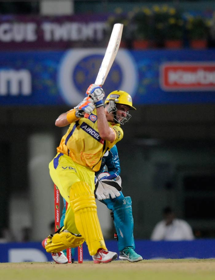Mike Hussey remained not out on 57 - scoring his 4th CLT20 fifty - to guide Chennai Super Kings to an eight-wicket victory. MS Dhoni finished things off in style - with a six - to help CSK book their place in the semifinals.
