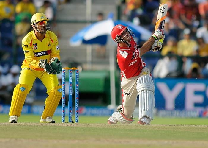 With a knock of 95 from just 43 balls, Maxwell helped Kings XI Punjab do the unthinkable! Chase Chennai Super Kings' massive total of 205/6 (Image courtesy: BCCI)