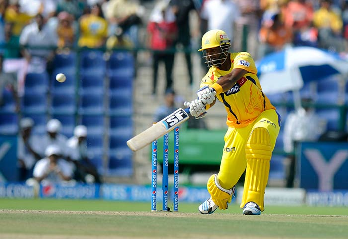 Dwayne Smith, McCullum's opening partner, also slammed a fifty that helped Chennai past the 200-run mark. As it turned out, their effort went in vain (Image courtesy: BCCI)