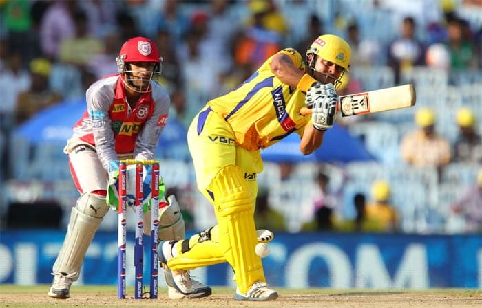 Suresh Raina kept Chennai in line for a big score as he reached his fifty from 32 balls. (Image credit BCCI)