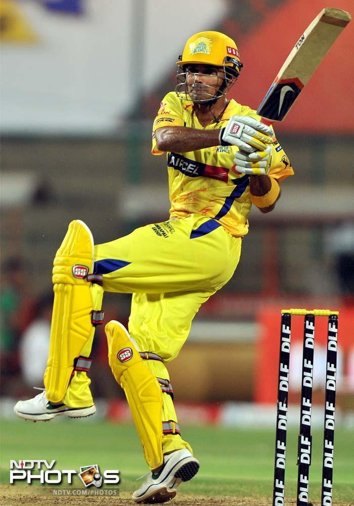S Badrinath, drafted into the team for the unfit Anirudha Srikkanth, was as effective making 47 off 39. (AFP PHOTO/Manjunath KIRAN)