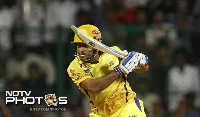 In Chennai's innings, MS Dhoni was in bludgeoning form as he smashed 51 runs off just 20 balls, slamming six fours and two sixes. (AP Photo/Aijaz Rahi)