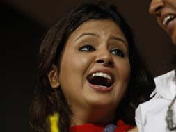 Photo : IPL: Joy for Sakshi, Dhoni as Chennai oust Mumbai