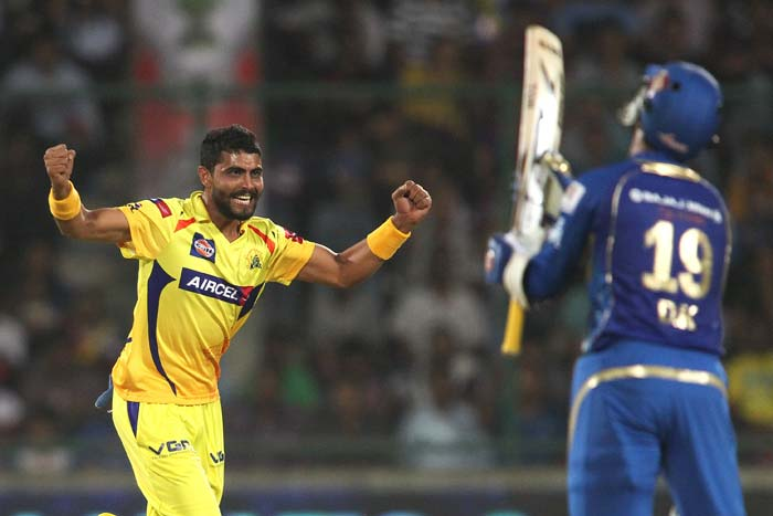 Ravindra Jadeja got the crucial wicket of Smith just as Mumbai were looking in with a chance to chase down 193. (BCCI Image)