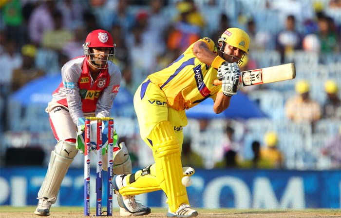 Raina started off slow and was a little circumspect. (Image credit BCCI)