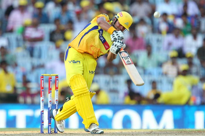 He finally cut loose in the death overs as he launched into the Punjab bowlers. (Image credit BCCI)