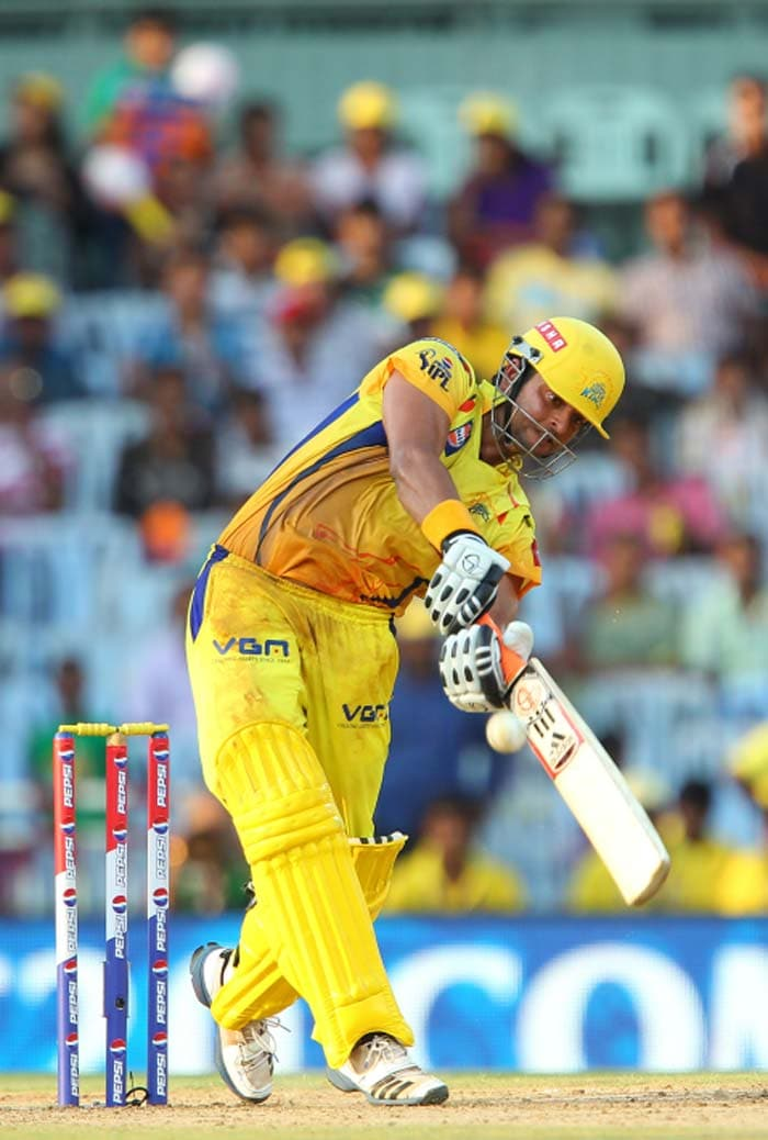 Raina's century came off 53 balls and it was his effort that helped the Chennai Super Kings to a 15-run win over Kings XI Punjab. (Image credit BCCI)