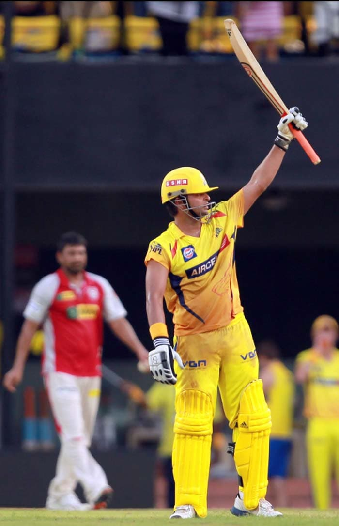 Suresh Raina hit an unbeaten century from 53 balls which sealed Chennai's 7th win in a row. (Image credit BCCI)
