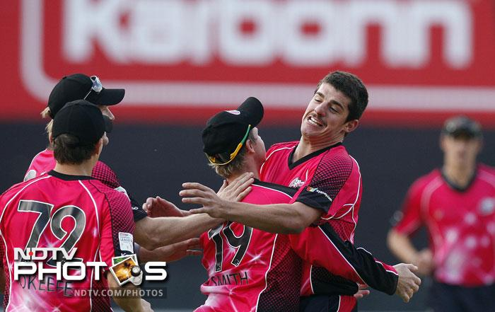 Moises Henriques was excellent with the bat and equally good with the ball to guide the Sydney Sixers to an easy victory in the end, over 2010 CLT20 champions Chennai Super Kings. (All AP Photos)