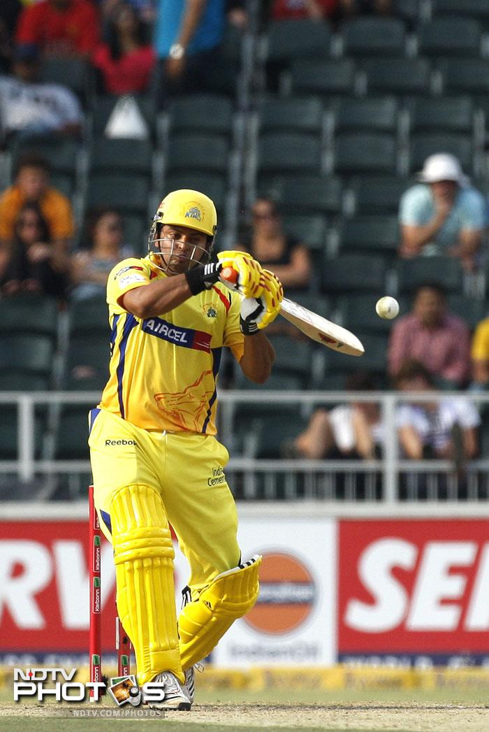 It was CSK's and probably India's best T20 player overall, Suresh Raina, who played the innings of the day along with Faf du Plessis to give them some hope. Raina scored 57 and Plessis, carrying on with his World T20 form, got 43.