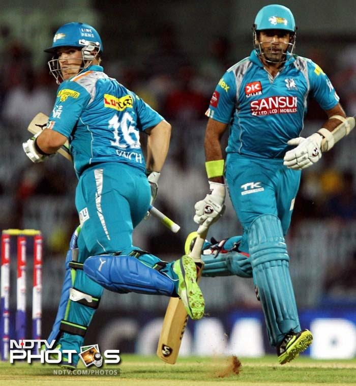 Aaron Finch and Robin Uthappa were involved in 96-run stand to record the best opening partnership for Pune Warriors (BCCI image)