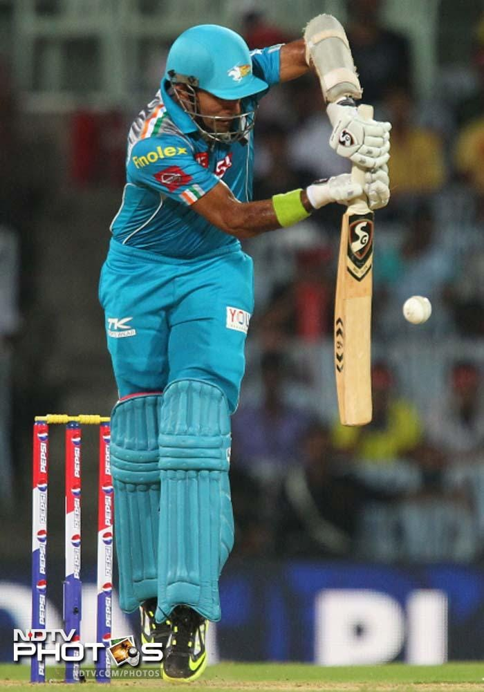 Robin Uthappa played cautiously for his 33-ball 26 with the help of two fours. (BCCI image)