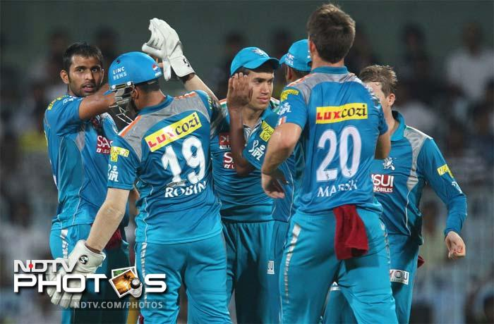 Pune Warriors registered their first win against Chennai Super Kings in Chennai. (BCCI image)