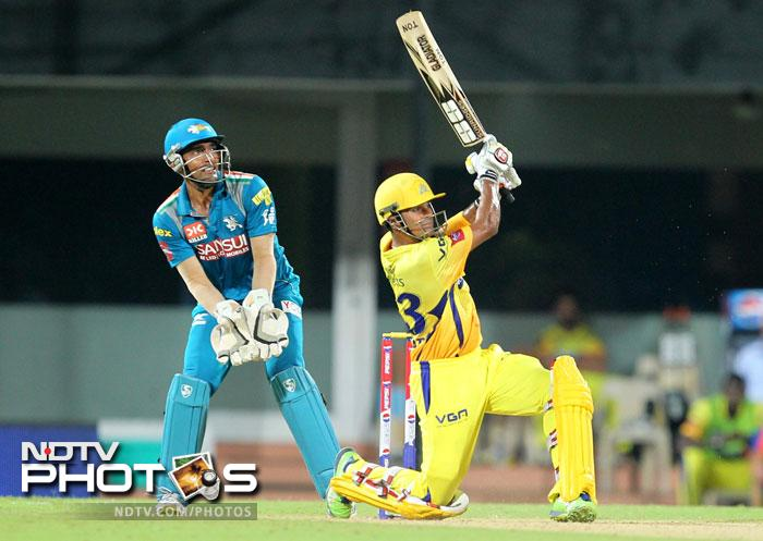 Subramaniam Badrinath top scored with 34 for Chennai Super Kings. (BCCI image)
