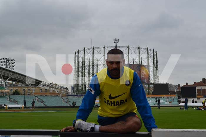 Shikhar Dhawan getting into the groove ahead of the game against West Indies.