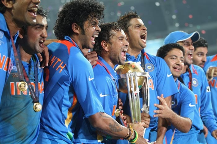 Yes We Did It.... The Blue Camp that is felt anything but blue after beating Sri Lanka in the final match!