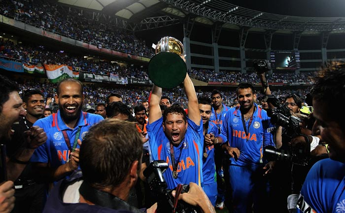 If only this cup could contain his joy! Emotions run high for the Master Blaster here.