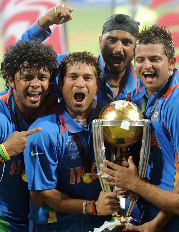 All for this one man! The Master Blaster said it was the proudest moment of his life! He got his hands on the trophy after six World Cup tournaments and 20 years!<br><br>The team dedicated the trophy to him, he who truly deserves it and yes, the tears of joy that rolled down his cheeks said it all to us!