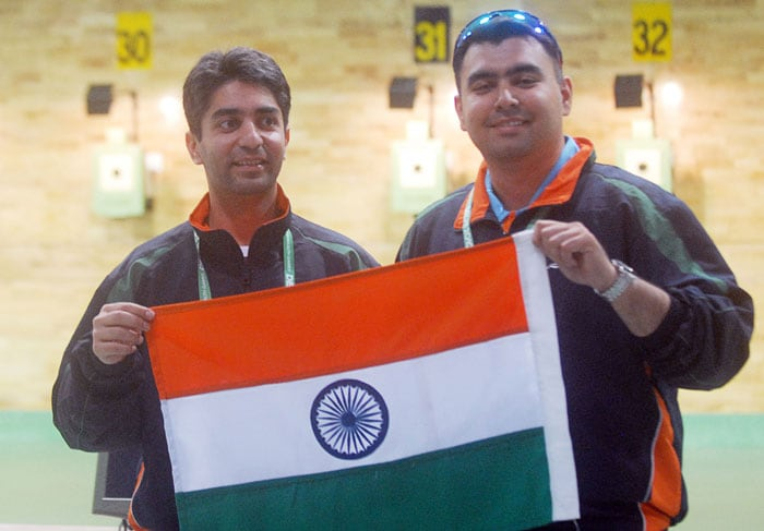 10m Air Rifle shooting event at the XIX Commonwealth Games in New Delhi.