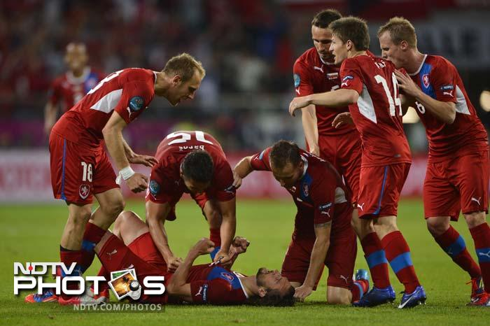 Co-hosts Poland crashed out of the European Championship as they lost 1-0 to the Czech Republic at the Municipal Stadium on Saturday with their opponents winning Group A. (All AFP and AP Images)