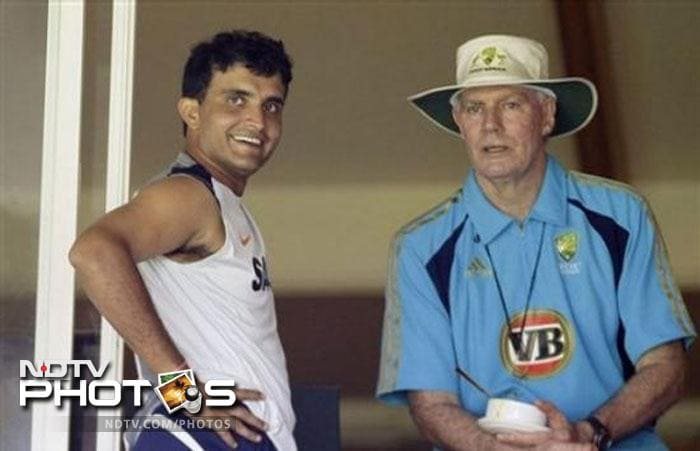 <b>Controversies</b><br><br> With unmatched success came almost needless controversies. First he was fined for a slow over rate and then the ever controversial spat with Greg Chappell, Ganguly's fall came because of the daring tactics that had taken him to the top.