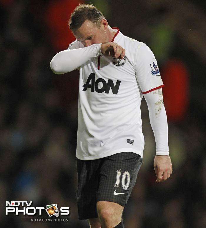 It was another disappointing night for Wayne Rooney, who looks to be heading towards the Old Trafford exit door this summer.