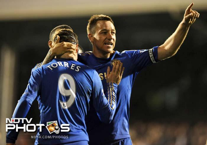 Chelsea climbed to third place in the table as John Terry's double inspired a 3-0 win at west London neighbours Fulham.