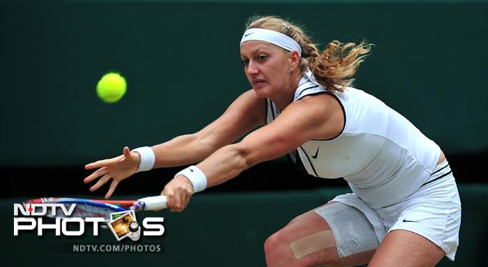 Czech player Kvitova made way into her first major final after overwhelming Belarus' Victoria Azarenka in 3 sets. (AFP Photo)