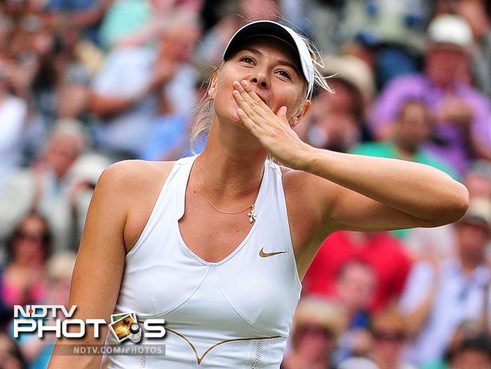 This will be Sharapova's first final appearance at Wimbledon since her maiden major win here in 2004. (AFP Photo)