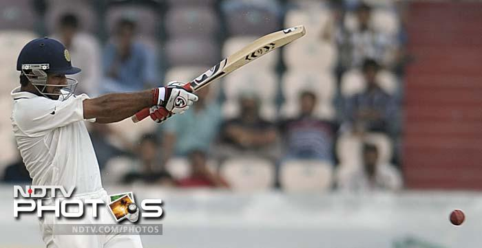 Cheteshwar Pujara (in pic) and MS Dhoni resumed India's innings on Day 2 and batted with firm intent.