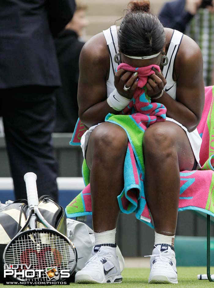 The American was made to sweat it out a bit in her 6-3, 3-6, 6-1 win but the tears at the end of the match were of relief after an injury-ridden recent past.