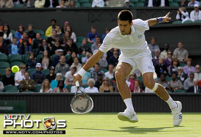 Serbia's Novak Djokovic though, took the limelight back and put it on himself as he cruised to a 6-4, 6-1, 6-1 victory against Jeremy Chardy of France.