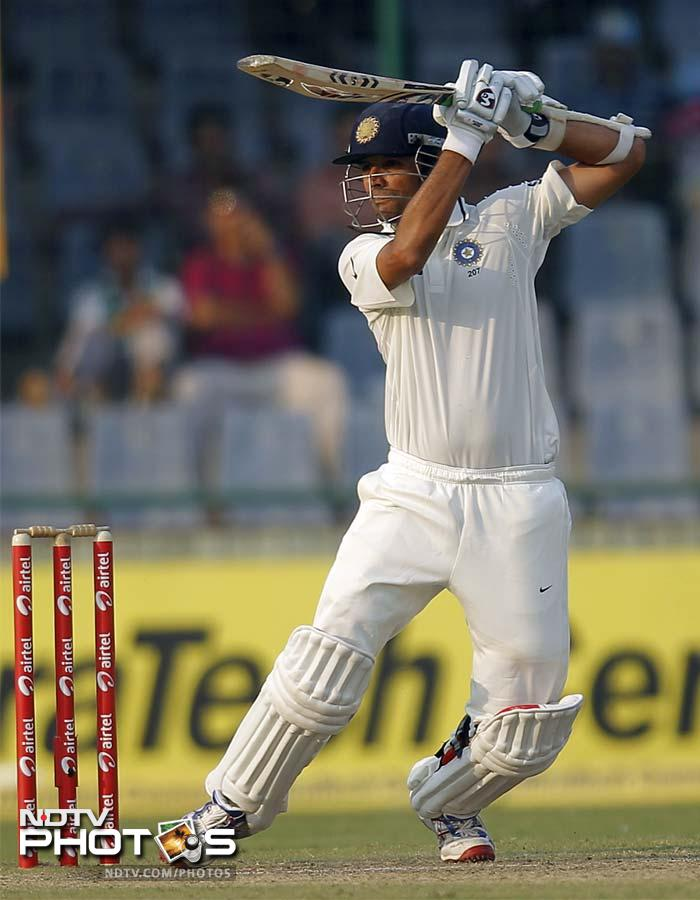Rahul Dravid carried on his good form from the England tour and hit another half-century.