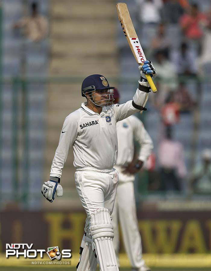 India got off to a fabulous start with openers Virender Sehwag and Gautam Gambhir hitting boundaries freely. Sehwag slammed a quick fifty before being stumped out.