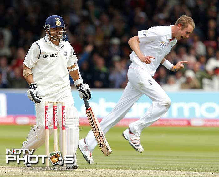 It was complete heart-break though when the partnership was finally broken. Broad found the edge of Tendulkar's bat to remove him on 34, a century left to be made in another innings.